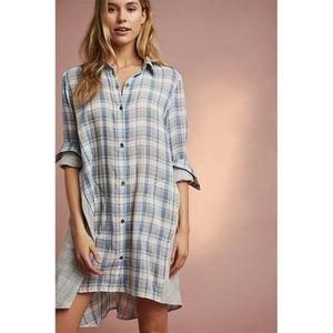 🆕 Anthropologie Saturday Sunday Plaid Shirt Dress